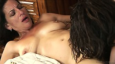 Melissa Monet and Wendy Breeze in a hot interracial lesbian porno