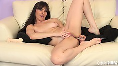 Dana DeArmond toyed her twat now its time to catch her ass, hook, line and sinker