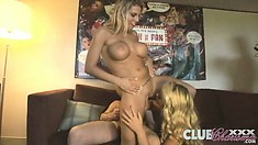Three horny bitches get down with an amateur who got real lucky