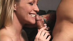 Big tit blonde goes for a different workout with his rigid boner