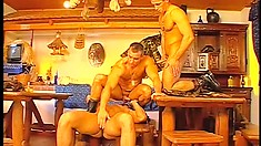 Horny military men find a new way to earn cash and go gay for pay