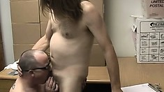 Old gay and young stud take turns sucking dick and ass fucking