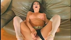 Slutty brunette Milf will suck his cock even if its been up her butt