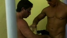 A pair of good looking studs enjoy some extreme anal drilling