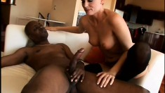 Sensual blonde mom needs a huge black rod drilling her fiery anal hole