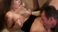 A filthy blonde sex addict begs to be treated like a dirty slut