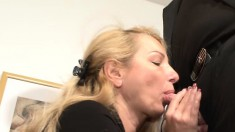 Naughty maiden bends over and gets her fascinating pussy teased