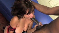 Busty Latina Mali Luna is in need of a huge black cock deep in her shaved peach