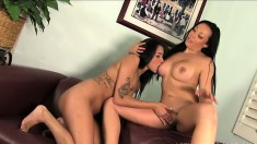 Fresh young hottie Giselle gets taken advantage of by a horny MILF