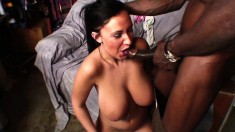 Busty Bella Blaze is eager to take in a pulsating black piston