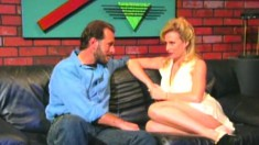 Busty Kylie Ireland has Steve Drake eating out and fucking her pussy