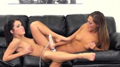 Megan and Val are hot bi babes indulging in some pussy eating and toying