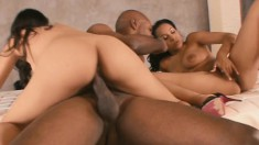 Two saucy young girls let this player exploit their tight holes