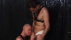 Two kinky gay bears in leather explore their hardcore anal fantasies