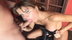 Hilda blows and gets her ass fingered and fucked by a shemale lover
