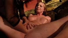 Bodacious Gabriella explores her bondage fantasies and finds pleasure