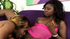 Black lesbians taste their twats and use toys in their wet holes