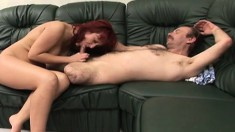 Amputee nails his busty in-home nurse and gives her an injection