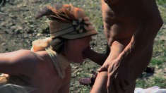 Bonny And Clide In A Big Outdoor Orgy Of Cock Sucking And Hardcore Fucking