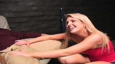 Delightful Blonde With Perky Tits And A Divine Ass Loves Ballbusting