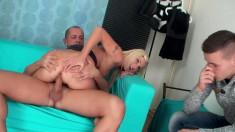 Hot blonde girlfriend with a heavenly ass enjoys a rough anal pounding