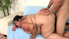 Chunky Brunette Lorelai Surrenders Her Tight Anal Hole To A Long Dick