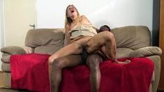 ugly grandma destroyed by big black dick