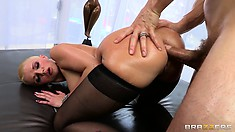 So fucking deep in that hot ass, his huge cock has rarely felt so good