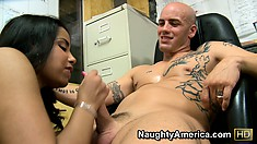 Havana Ginger works her unnatural butt for the sick pleasure of wanker