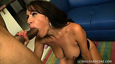 Layla Rider gets a big black dick to beat her moist pussy up