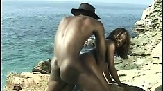Hot Devlin Weed gobbles up Byron Long's wanker and gets drilled outside