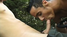 These boys are feeling the gay love as they suck and fuck on the John Deere tractor