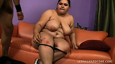 Efficient whore with big forms Karla Lane works on tasty BBC