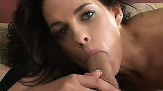 Husband watches his lustful wife getting pounded hard by another guy