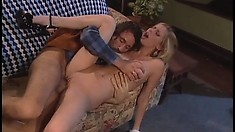 Feisty Lain Oi sits her snatch down on Steve Holmes' big dick