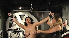 Big-breasted whore goes through terrific BDSM experience tonight