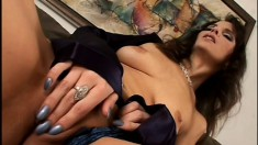 Seductive brunette milf is desperate to get her tight ass drilled hard