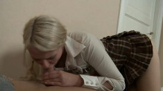 A cock in her ass makes barely legal cutie Fantine forget about homework