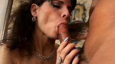 Seductive brunette milf needs a young stud's big cock pounding her ass