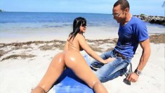 Enticing Latina with a big round booty Rose Monroe is out of control