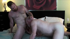 Rusty McMann, Kyle Scott and Marc Angelo have some hot rimjob fun
