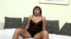 Sultry Maggie receives a fist in her peach and screams with pleasure