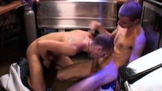 Matthew Jackson and his cute gay boyfriend having anal sex at the bar