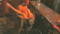 Dazzling Gina Ryder has her lover Nikko fucking her pussy in the club