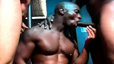 Horny black boy wants a dark stick in his mouth and another up his ass