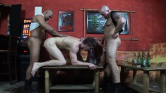 Four attractive and lustful gay boys enjoy lots of sucking and fucking