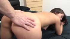 Sultry girl fucks a big dick and gets her divine ass covered in semen
