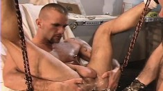 Lusty hunk gets turned on and begs to be deeply and roughly fisted