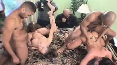Insatiable Housewives Get Together With Hung Guys For An Exciting Orgy