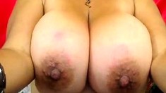 Webcams 2014 - MILF Oils up Huge Tits
